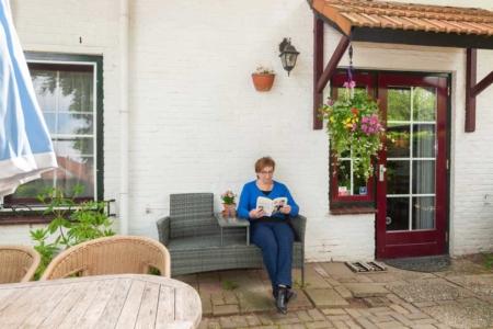 Lezen in de tuin
